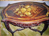Инкрустированный резной стол