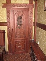 Двери с совой