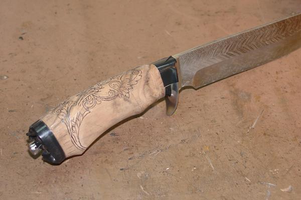 Украшение рукояти ножа
