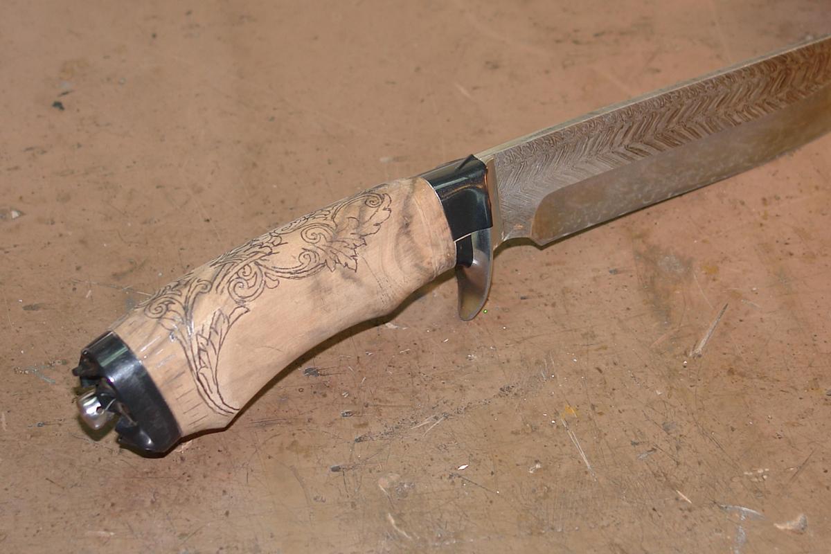 Изготовление рукояти ножа своими руками 237
