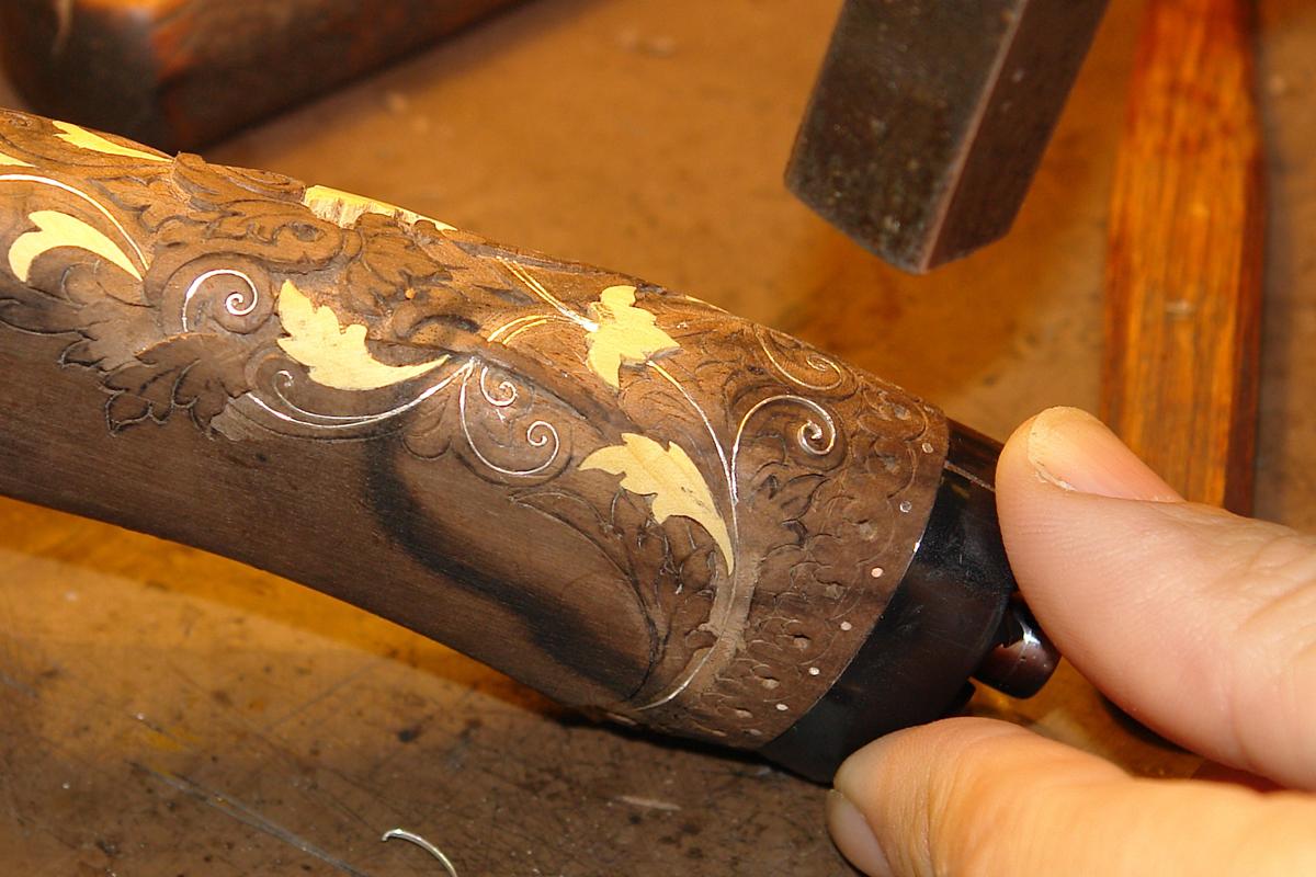 Как сделать рукоятку для ножа-видео