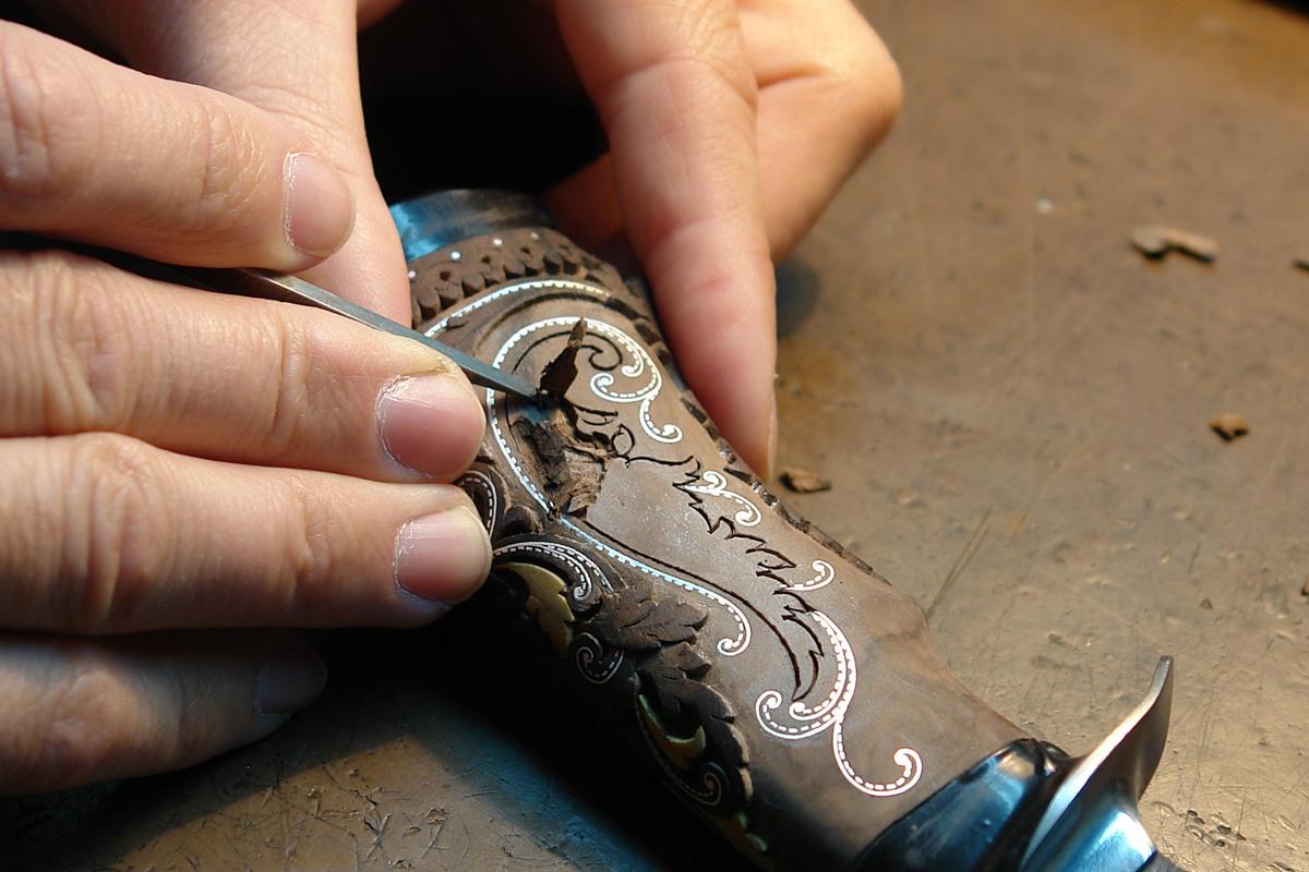 Изготовление гравировок на ноже 43