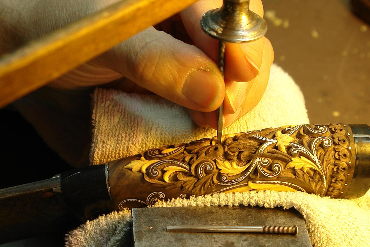 Рисунок на рукоятке ножа своими руками 45