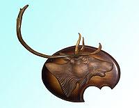 Барельеф головы оленя