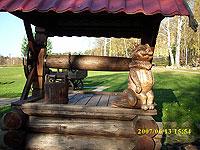 скульптура садовая на колодце. Малые архитектурные формы