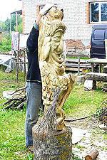 резьба по дереву, садовая скульптура