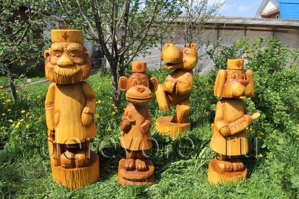 скульптура в резьбе по дереву
